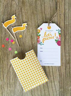 Free Printable Picnic Invites, cute!  This would be fun for date night.