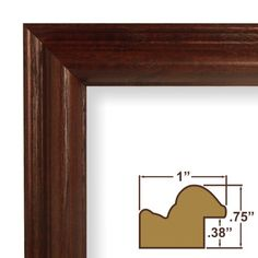 11x17 picture poster frame wood grain finish 1 wide cherry red