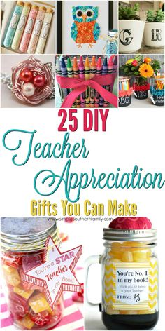 25 Teacher Appreciation Gifts  May 3rd is National Teacher Appreciation Day I know how hard teachers works from first hand experience.  I can remember lesson planning until midnight and working all weekend for the upcoming weeks & months. Teachers work alot of overtime including Summers. But teachers do this because they love what they do