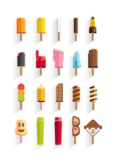 My childhood ice creams on Behance