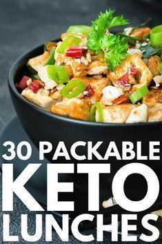 30 Keto Lunch Ideas | We're sharing 30 low carb, ketogenic diet approved easy lunch recipes for weight loss you can take to work or school, or enjoy on the go! Whether you prefer shrimp, chicken, tuna salad, beef, soups, or chili, require grain-free or dairy-free options, need something you can enjoy cold or heat up in the microwave, we've got delicious and healthy keto recipes to add to your weekly meal prep plan!