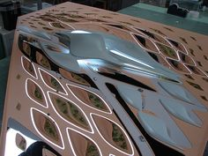More photos from working at A-Models, currently just of the Zaha Emirates - Office Building Project. Zaha Hadid Architecture, Parametric Architecture, Architecture Building Design, Architecture Panel, Futuristic Architecture, Concept Architecture, Futuristic City, Futuristic Design, Bartlett School Of Architecture