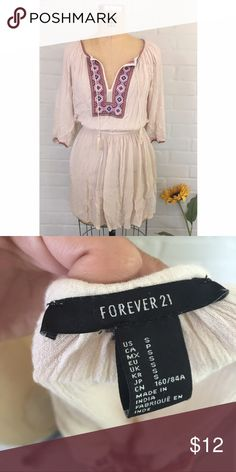 Bohemian dress Here's a lightweight forever21, bohemian sundress with versatile colors. Size Small Forever 21 Dresses Long Sleeve