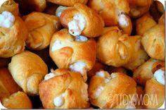 Garlic Chicken Puffs #appetizers #recipe #party