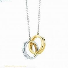 Tiffany & Co Outlet 1837 interlocking circles pendant