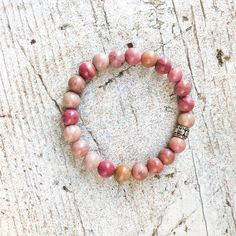 Rhodonite Beaded Stretch Bracelet to Attract Loving Relationship | Reiki Charged Healing Crystal Beaded Love Bracelet Open Heart Chakra Healing Bracelets, Love Bracelets, Crystal Bracelets, Stretch Bracelets, Crystal Beads, Pink Stone, Heart Chakra, Crystals And Gemstones, Silver Beads