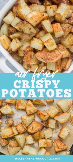 This Sheet Pan Crispy Roasted Potatoes Recipe is an easy, delicious side dish made in the oven! Paleo, vegan   whole30 friendly, these oven roasted potatoes are perfectly cooked   yummy! You can keep them plain, add thyme/rosemary or parmesan, or just stick with salt and pepper. See the post for a video and step by step instructions on how to make crispy roasted potatoes every time! These are the best roasted potatoes! #paleo #whole30 #healthy #potatoes #vegan Pan Roasted Potatoes, Crispy Potatoes, Healthy Gluten Free Recipes, Paleo Vegan, Whole30 Recipes, Paleo Menu, Vegetarian Recipes, Vegetable Recipes, Recipes