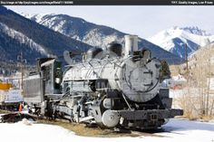 Vintage Locomotives | Royalty Free Image of Old Steam Locomotive, Silverton, Colorado, USA