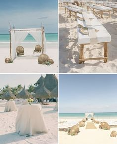 I love this simple set up and color scheme. Similar to the other one, but the sand is lighter and the seats are benches.
