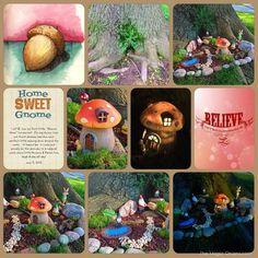 DELIGHTFUL fairy garden in a tree trunk - More enchanting photos of this magical FAIRY GARDEN on The Magic Onions Blog and FairyGardens.com
