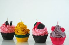 Variety Scented SOY Cupcake Candles (4)