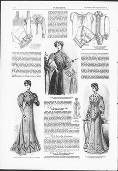 Reformdress with Art Nouveau influences in decoration, right below.   (visit site for bigger picture)   Gracieuse. Geïllustreerde Aglaja, 1905, aflevering 23, pagina 270
