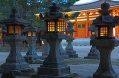 Mount Koya, or Koyasan 「Kōya-san/高野山」 is a magical World Heritage site in the mountains of Wakayama Prefecture. The traditional stone lanterns found here at Danjo Goran light up the site beautifully at night.