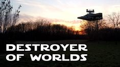 Quadcopter Drone Imperial Star Destroyer: Destroyer of Worlds [Awesome] #starwars #stardestroyer #destroyerofworlds #diy #quadcopter #drones #geek