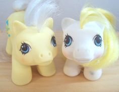 My Little Pony Vintage G1 Twins Big Top and Toppy