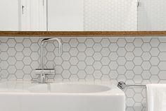 matt white tile splashback - Google Search