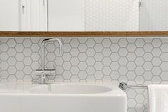 matt white tile splashback - Google Search