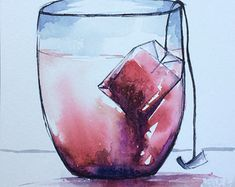 cups of tea watercolor - Пошук Google