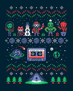 Geeky 'Guardians of the Galaxy', 'Star Wars', and 'Dr. Who' Sweatshirt Designs Inspired by Ugly Christmas Sweaters