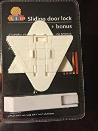 Amazon.com : Sliding Door Lock for Child Safety - Baby Proofing sliding door closet.Childproof your Home with No Screws or Drills by All4Baby set of 3 100% Risk Free! : Baby