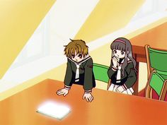 Cardcaptor Sakura Episode 55 | CLAMP | Madhouse / Kinomoto Sakura, Daidouji Tomoyo, Li Shaoran, and The Fly Card