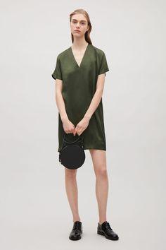 COS | Short v-neck silk dress