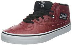 Vans Mens Vans SNAKE Half CAB Skate Shoes 7 DM US Red >>> Click image to review more details.