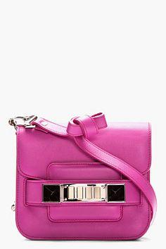 PROENZA SCHOULER Tiny Fuchsia Leather PS11 Shoulder Bag