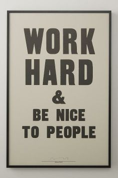 Amen! Work Hard and be nice to People / Schoolhouse Electric