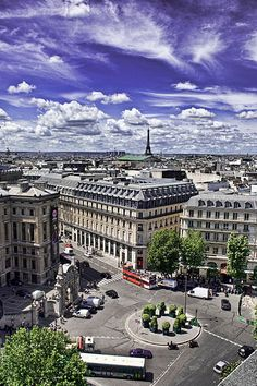 View from the top of the Galeries Lafayette, Paris IX