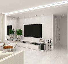 Likes, 21 Comments - Deco Garden-Design Home Living Room, Interior Design Living Room, Living Room Decor, Tv Wall Design, Design Case, Modern Tv Wall Units, Living Room Tv Unit Designs, Tv Wall Decor, Small Room Bedroom