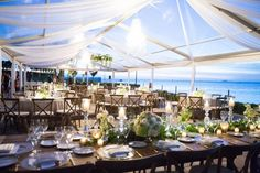 New Year's Eve Waterfront Wedding at Sunset Cove in Miami, FL - The Celebration Society Miami Wedding Venues, Waterfront Wedding, Wedding Locations, Waterfront Restaurant, Wedding Receptions, Tent Wedding, Dream Wedding, Wedding Spot, Florida Pictures