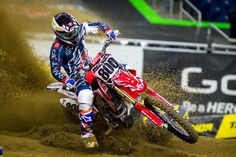 Smartop/MotoConcepts Honda rider Mike Alessi is expected to miss the remainder of Monster Energy Supercross after breaking his collarbone. Monster Energy Supercross, Motocross Riders, Alessi, Honda, Bicycle, Fitness, Sports, Hs Sports, Bike