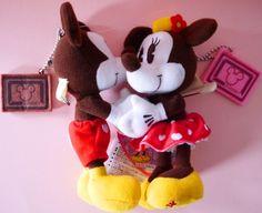 New Tokyo Disney TDR Sweet Love 2014 Mickey Minnie Plush toys badge strap Japan  #Disney