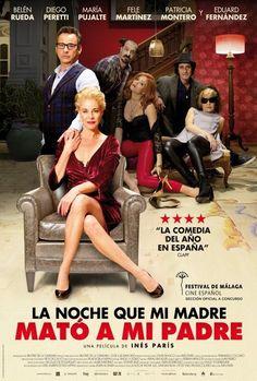 """La noche que mi madre mató a mi padre -Comedia recomendada por Rosa Montero :""""Hola, amigos, ...hacía tiempo que no me reía tantísimo con una película, es verdaderamente genial, una comedia negra y disparatada e inteligente del tipo de ese clásico maravilloso que es Arsénico por compasión. Me desternillé. La estrenan mañana viernes y os la recomiendo para salir con el espíritu alegre..."""" (Via FB)"""