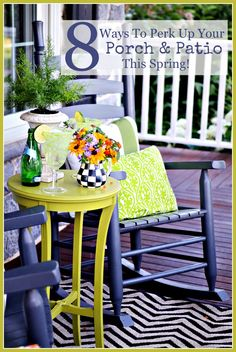 8 WAYS TO PERK UP YOUR PORCH AND PATIO THIS SPRING-Great ideas to do now and to enjoy your outdoor living space-stonegableblog.com