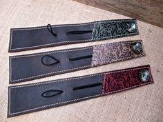 Leather Wrap Bracelet Cuff (nice closures!)