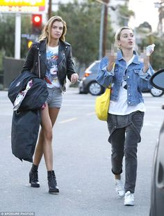 Stella Maxwell and Miley Cyrus in LA.