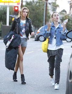 Stella Maxwell and Miley Cyrus in LA.