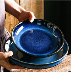 Handcrafted Japanese Ceramic Deep Blue Serving Plate | Serving Plate | Dinnerware | Deep Plate | Ceramic Plate | kitchen and dining ✔️This Series is Japanese ceramics, King Products. Very nice hand feeling, Cat eye blue color makes bright. ✔️Features: 1. Deep Blue Serving Plate . 2. Smooth and Dining Plates, Serving Plates, Kitchen Dining, Dining Table, Kitchen Decor, Dessert Tray, Home Decor Sets, Soup Plating, Fruit Plate