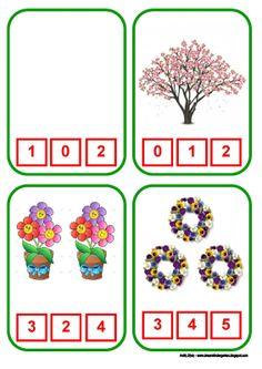 Το νέο νηπιαγωγείο που ονειρεύομαι : Ανοιξιάτικο παιχνίδι με αριθμούς από το 0 ως το 31 Kindergarten Math Worksheets, Preschool Printables, Teaching Math, Autism Activities, Infant Activities, Number Activities, Number Games, Math Games, Printable Numbers