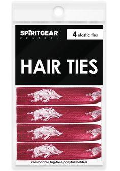 Arkansas Razorbacks Hair Ties - Spirit Gear Central