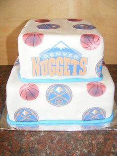Denver Nuggets cake....i NEED this on my birthday