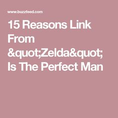 """15 Reasons Link From """"Zelda"""" Is The Perfect Man"""