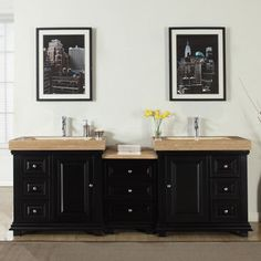 Photo Gallery In Website Shop for Silkroad Exclusive inch Integrated Travertine Stone Sink Modern Bathroom Double Vanity