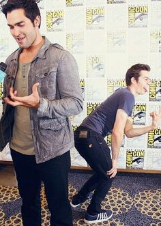 Dylan O'brien & Tyler Hoechlin       on ComicCon