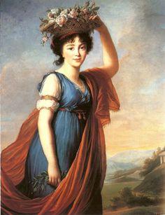 Princess Eudocia Ivanovna Galitzine nee Izmaillov by Louise Élisabeth Vigée Le…