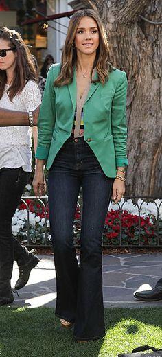 Jessica Alba: estilo 'multicolor'