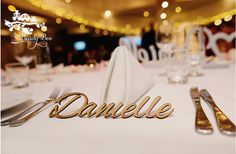Personalised Wedding Place Cards Guest Names Laser Cut