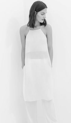 Chic Minimalist Style - semi-sheer white dress, simplicity, minimal fashion // Zara